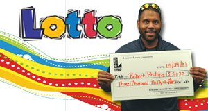 Robert Phillips's Lotto winner photo
