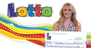 Stephanie Salario won 2,762 playing Lotto