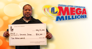 Terrance Corbin's Mega Millions winner photo