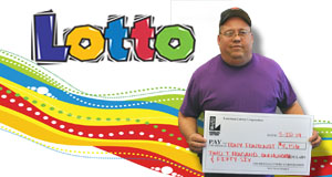 Tony Fontenot's Lotto winner photo