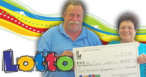 Carol LeBlanc's Lotto winner photo
