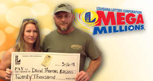David Thomas won 20,000 playing Mega Millions