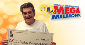 Dudley Morgan won 5,000 playing Mega Millions