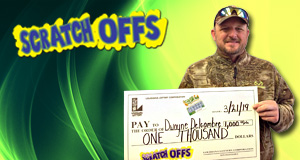 Dwayne Delcambre won 1,000 playing Ca$H Clover
