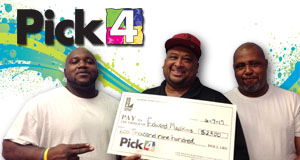 Edward Madkins won 2,900 playing Pick 4