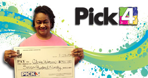 Gloria Watson won 790 playing Pick 3