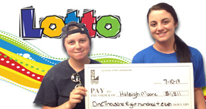 Haleigh Moore's Lotto winner photo