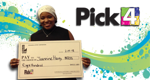 Jeannine Hardy won 800 playing Pick 4