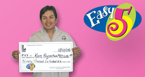 Kam Kaysonpheth's Easy 5 winner photo