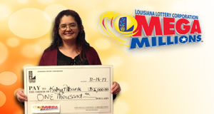 Kathy Rebardi won 1,000 playing Mega Millions