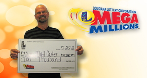 Matt Carter's Mega Millions winner photo