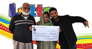Nasir Sohail won 350,000 playing Lotto