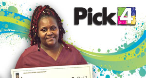 Regina Campbell won 2,700 playing Pick 4