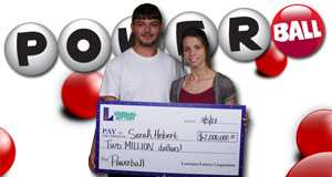 Sarah Hebert won 2,000,000 playing Powerball