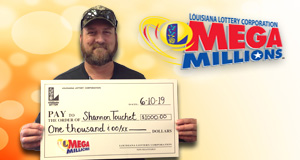 Shannon Toucet won 1,000 playing Mega Millions
