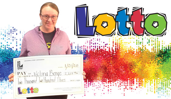 Victoria Benge won 2,203 playing Lotto