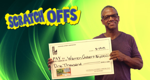 Warren Gobert won 1,000 playing $50 Frenzy