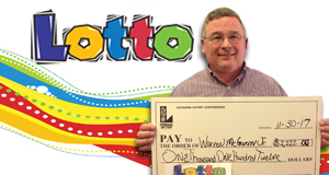 Warren McGovern Jr. won 1,112 playing Lotto