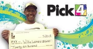 Willie Leonard won 2,600 playing Pick 4