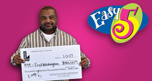 Fred Washington won 183,337 playing Easy 5