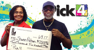 Sharon Nelson won 2,500 playing Pick 4