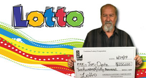 Jim Opitz won 375,000 playing Lotto