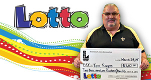 Tom Rogers won 2,112 playing Lotto