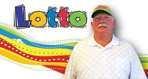 Gary Lott's Lotto winner photo