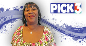 Sonya Collins  won 1,000 playing Pick 3