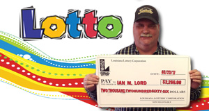 Ian Lord won 2,266 playing Lotto