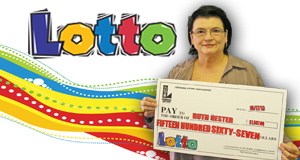 Ruth Hester's Lotto winner photo