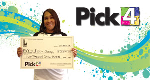 Alicia Joseph won 2,700 playing Pick 4