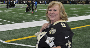 Prairieville Woman Wins Louisiana Lottery Saints Gold Deluxe Prize Package