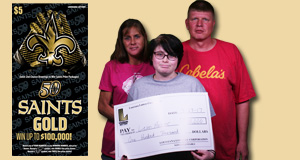 Leon Mosier won $100,000 playing Saints Gold