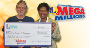 Michael Desselle won 1,000,000 playing Mega Millions
