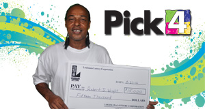 Robert J. Wright won 15,000 playing Pick 4