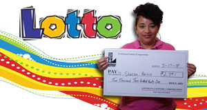 Sharon Harris won 2,391 playing Lotto