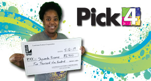 Shywanda Broome won 2,900 playing Pick 4