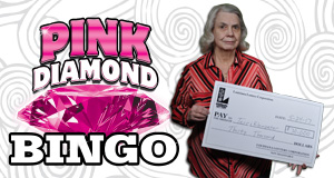 Terri Kleinpeter won $30,000 playing Pink Diamond Bingo