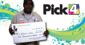 William Cobb won 2,500 playing Pick 4