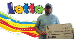 Adam Landry won 1,627 playing Lotto