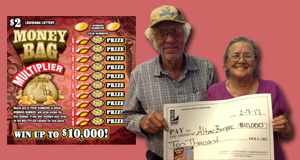 Alton Borque won 10,000 playing Money Bag Multiplier