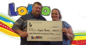 Angie Perrodin won 4,072 playing Lotto