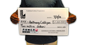 Anthony Colligan won 2,000,000 playing Powerball