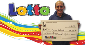 Brian Wing won 6,821 playing Lotto