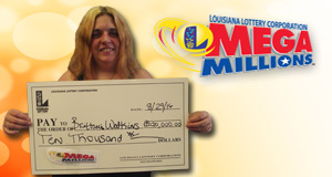 Brittani Watkins won 10,000 playing Mega Millions