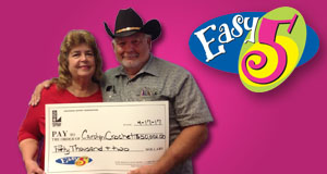 Carolyn Crochet won 50,002 playing Easy 5