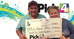 Cheryl Hanks won 7,700 playing Pick 4