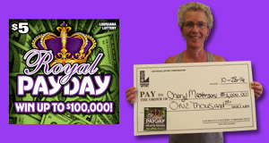 Cheryl Masterson's Royal Payday winner photo