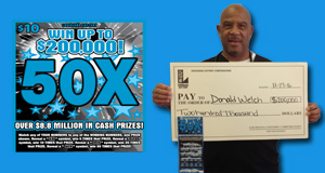 Donald Welch won $200,000 playing 50x